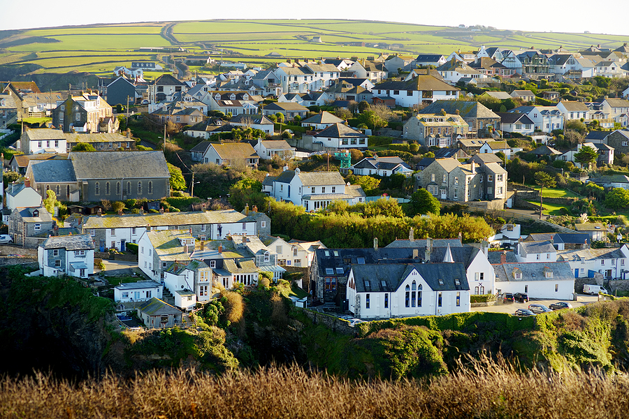 Port Isaac, A Small And Picturesque Fishing Village On The Atlan